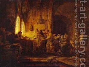 The Parable Of The Laborers In The Vineyard 1637 by Harmenszoon van Rijn Rembrandt - Reproduction Oil Painting