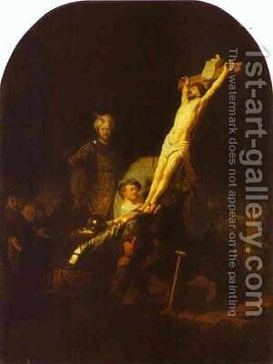 The Raising Of The Cross 1633 by Harmenszoon van Rijn Rembrandt - Reproduction Oil Painting