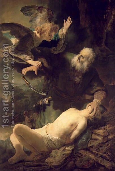 The Sacrifice of Abraham 1635 by Harmenszoon van Rijn Rembrandt - Reproduction Oil Painting
