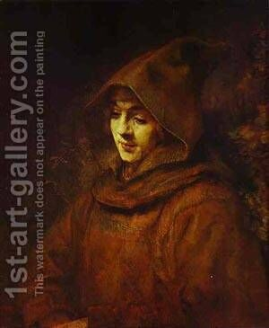 Titus In A Monk Habit 1660 by Harmenszoon van Rijn Rembrandt - Reproduction Oil Painting