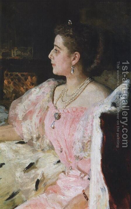 Portrait Of Countess Natalia Golovina 1896 by Ilya Efimovich Efimovich Repin - Reproduction Oil Painting