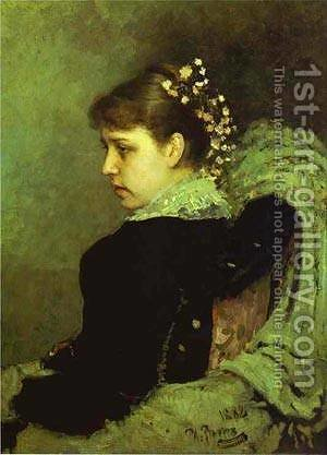 Portrait Of T A Mamontova 1882 by Ilya Efimovich Efimovich Repin - Reproduction Oil Painting