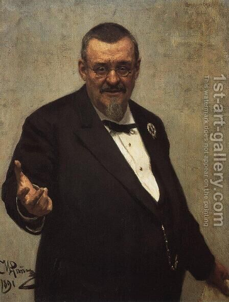 Portrait Of The Lawyer Vladimir Spasovitch 1891 by Ilya Efimovich Efimovich Repin - Reproduction Oil Painting