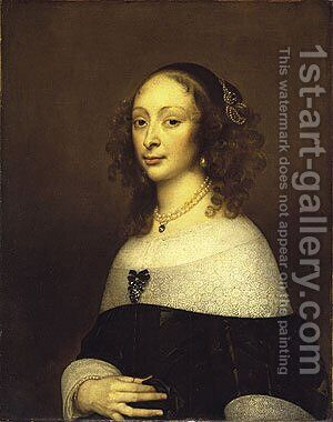 Portrait of a Woman 2 by Adriaen Hanneman - Reproduction Oil Painting