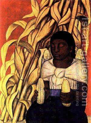 Corn by Diego Rivera - Reproduction Oil Painting