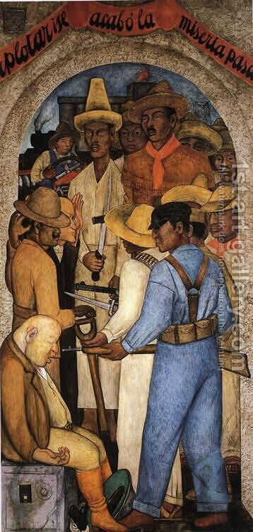 Death of the Capitalist 1928 by Diego Rivera - Reproduction Oil Painting