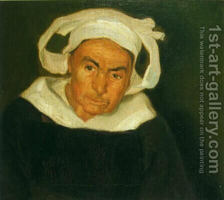 Head of a Breton Woman (Cabeza de mujer bretona) 1910 by Diego Rivera - Reproduction Oil Painting