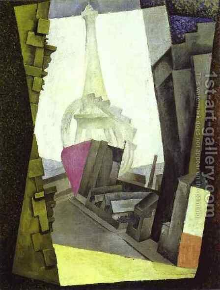 La Tour Eiffel 1914 by Diego Rivera - Reproduction Oil Painting