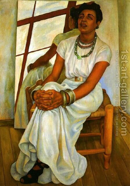 Portrait of Lupe Marin (Retrato de Lupe Marin) 1938 by Diego Rivera - Reproduction Oil Painting