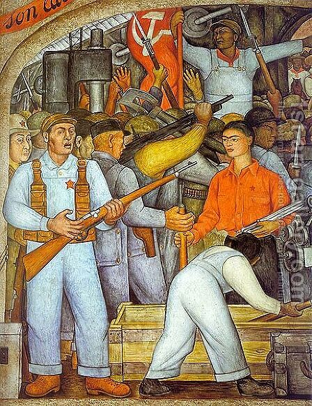 The Arsenal by Diego Rivera - Reproduction Oil Painting