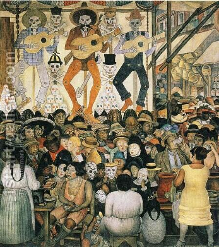 The Day of the Dead 1924 by Diego Rivera - Reproduction Oil Painting