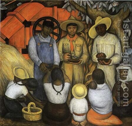 Triumph of the Revolution 1926 by Diego Rivera - Reproduction Oil Painting