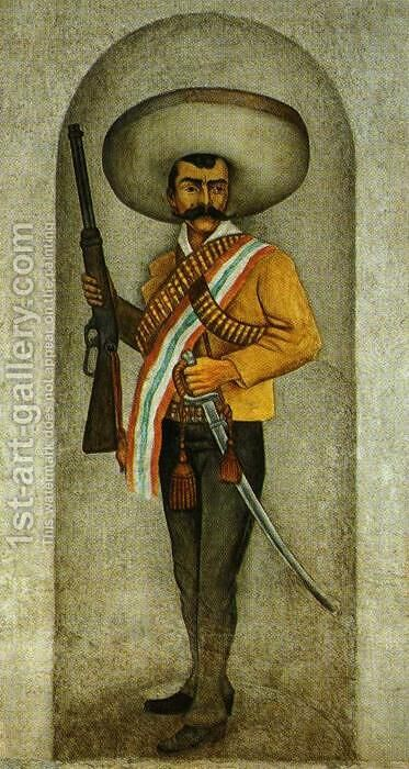 Zapata 1930 31 by Diego Rivera - Reproduction Oil Painting