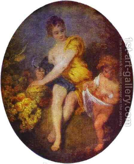 Autumn 1715 by Jean-Antoine Watteau - Reproduction Oil Painting