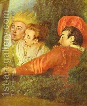 Pierrot Also Known As Gilles Detail 1721 by Jean-Antoine Watteau - Reproduction Oil Painting