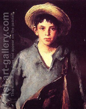 Portugese Fisherboy by Charles Hawthorne - Reproduction Oil Painting