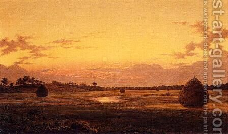 Marsh at Dawn 1859 by Martin Johnson Heade - Reproduction Oil Painting