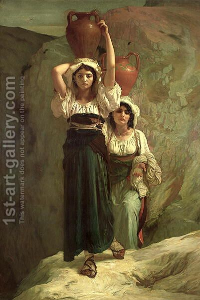 The Girls of Alvito 1855 by Antoine Auguste Ernest Hebert - Reproduction Oil Painting