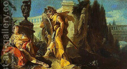 Rinaldo Sees Himself in Ubaldos Shield by Giovanni Battista Tiepolo - Reproduction Oil Painting