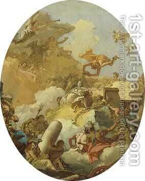 The Apotheosis of the Spanish Monarchy sketch for a ceiling painting2 by Giovanni Battista Tiepolo - Reproduction Oil Painting