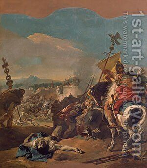 The Capture of Carthage 1725 by Giovanni Battista Tiepolo - Reproduction Oil Painting