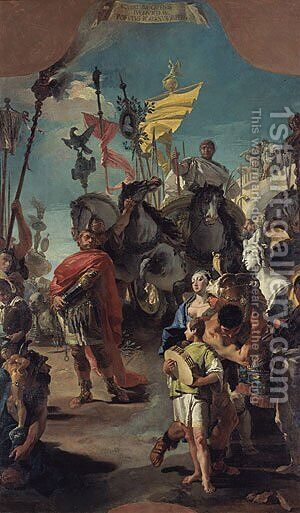 The Triumph of Marius 1729 by Giovanni Battista Tiepolo - Reproduction Oil Painting