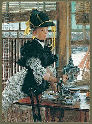 Tea 1872 by James Jacques Joseph Tissot - Reproduction Oil Painting