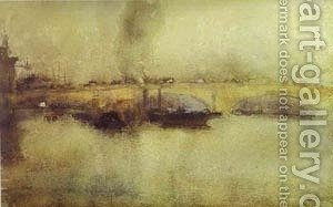 London Bridge 1885 by James Abbott McNeill Whistler - Reproduction Oil Painting