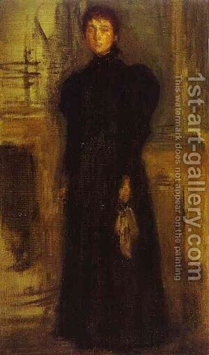 Miss Rosalind Birnie Philip Standing 1897 by James Abbott McNeill Whistler - Reproduction Oil Painting