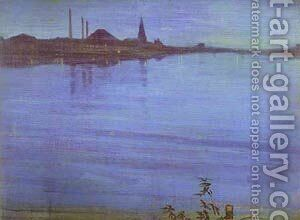 Nocturne In Blue And Silver 1871 2 by James Abbott McNeill Whistler - Reproduction Oil Painting
