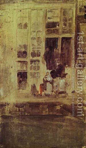 The Grey House 1889 by James Abbott McNeill Whistler - Reproduction Oil Painting