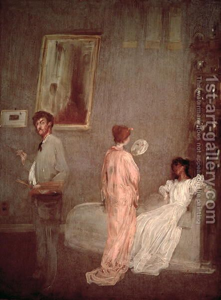 Whistler in his studio 1865 66 by James Abbott McNeill Whistler - Reproduction Oil Painting