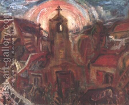 Church at Szentendre 1937 by Gyula Hincz - Reproduction Oil Painting