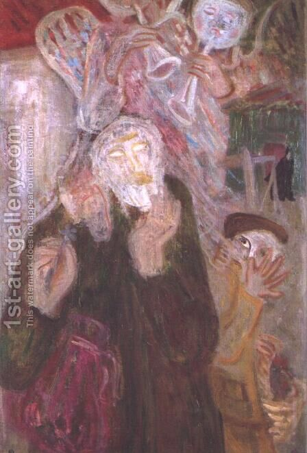 Kabbalist 1938 by Gyula Hincz - Reproduction Oil Painting