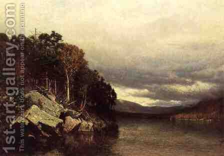Lake George 1872 by Alexander Helwig Wyant - Reproduction Oil Painting