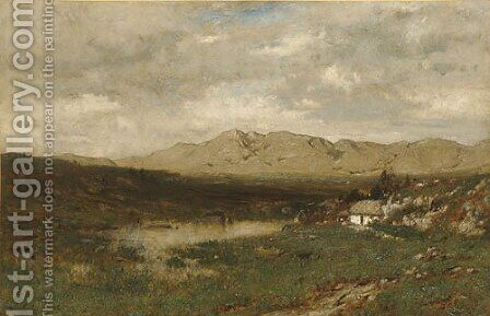 View in County Kerry 1875 by Alexander Helwig Wyant - Reproduction Oil Painting