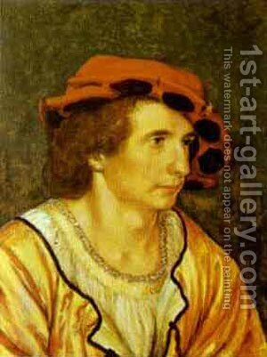 Portrait Of A Man Supposedly Anton The Good Duke Of Lorraine by Hans, the Younger Holbein - Reproduction Oil Painting