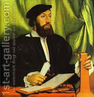 Portrait Of Sir Thomas More 1527 by Hans, the Younger Holbein - Reproduction Oil Painting