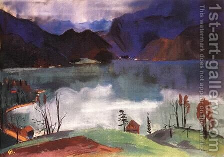 Walchensee No 2 1928 by Ary Schefer - Reproduction Oil Painting