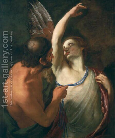 Daedelus and Icarus by Andrea Sacchi - Reproduction Oil Painting