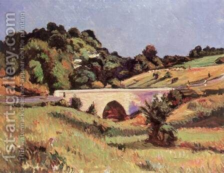 Roman Bridge at Dorgicse 1971 by Imre Amos - Reproduction Oil Painting