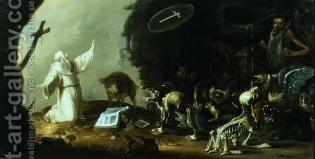 The Temptation of St Anthony by Cornelis Saftleven - Reproduction Oil Painting