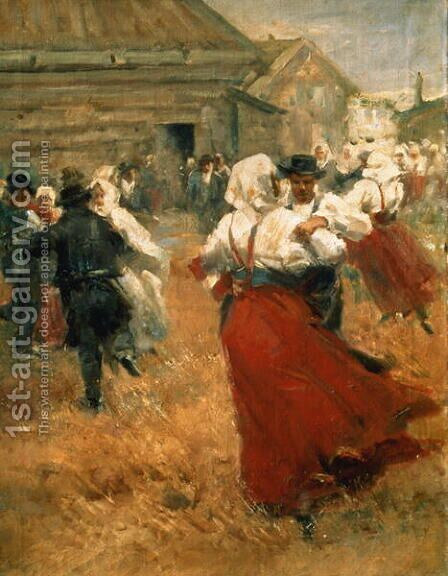 Country Festival 1890s by Anders Zorn - Reproduction Oil Painting