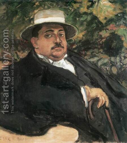 Portrait of Tibor Wlassics 1911 by Istvan Csok - Reproduction Oil Painting