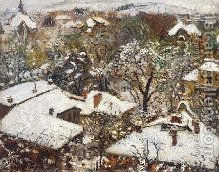 Winter in the Spring 1913 by Istvan Csok - Reproduction Oil Painting