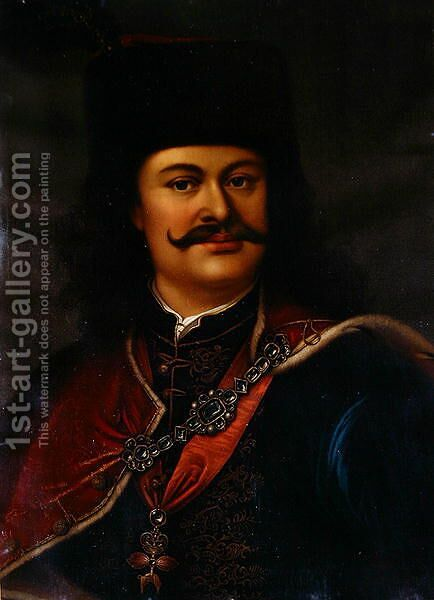 Prince Ferenc Rakoczi II by Adam Manyoki - Reproduction Oil Painting