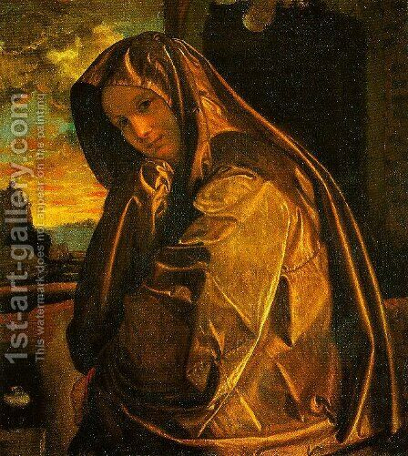 Mary Magdalen by Giovanni Girolamo Savoldo - Reproduction Oil Painting