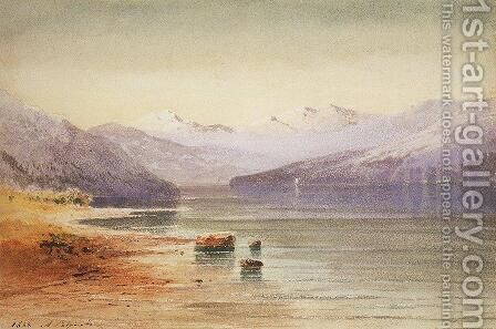 Mountain Lake Switzerland 1854 by Alexei Kondratyevich Savrasov - Reproduction Oil Painting