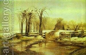 Spring Day 1873 by Alexei Kondratyevich Savrasov - Reproduction Oil Painting