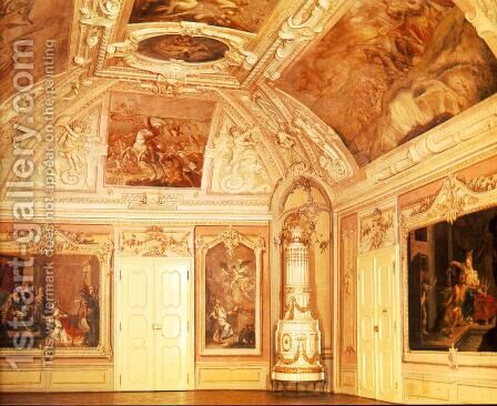 Wall paintings on the side walls 1769 by Istvan Dorffmaister - Reproduction Oil Painting